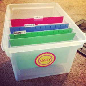 Kids' Artwork Bins
