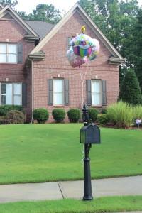 Balloons on mailbox