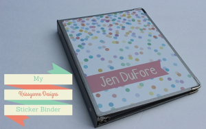 Krissyanne Designs Sticker Binder