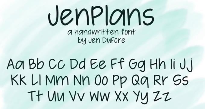 JenPlans Font
